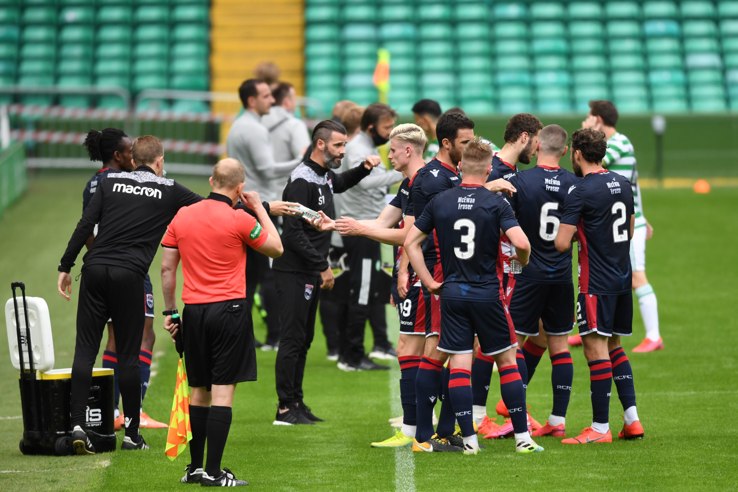 Ross County played Celtic in pre-season