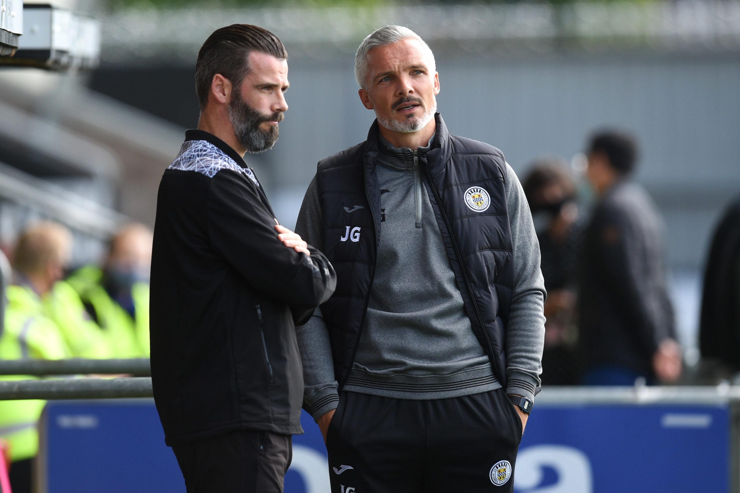 Ross County manager Stuart Kettlewell (left) with St Mirren boss Jim Goodwin.