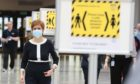 First Minister Nicola Sturgeon during a visit to the NHS Louisa Jordan at the SEC, Glasgow.
