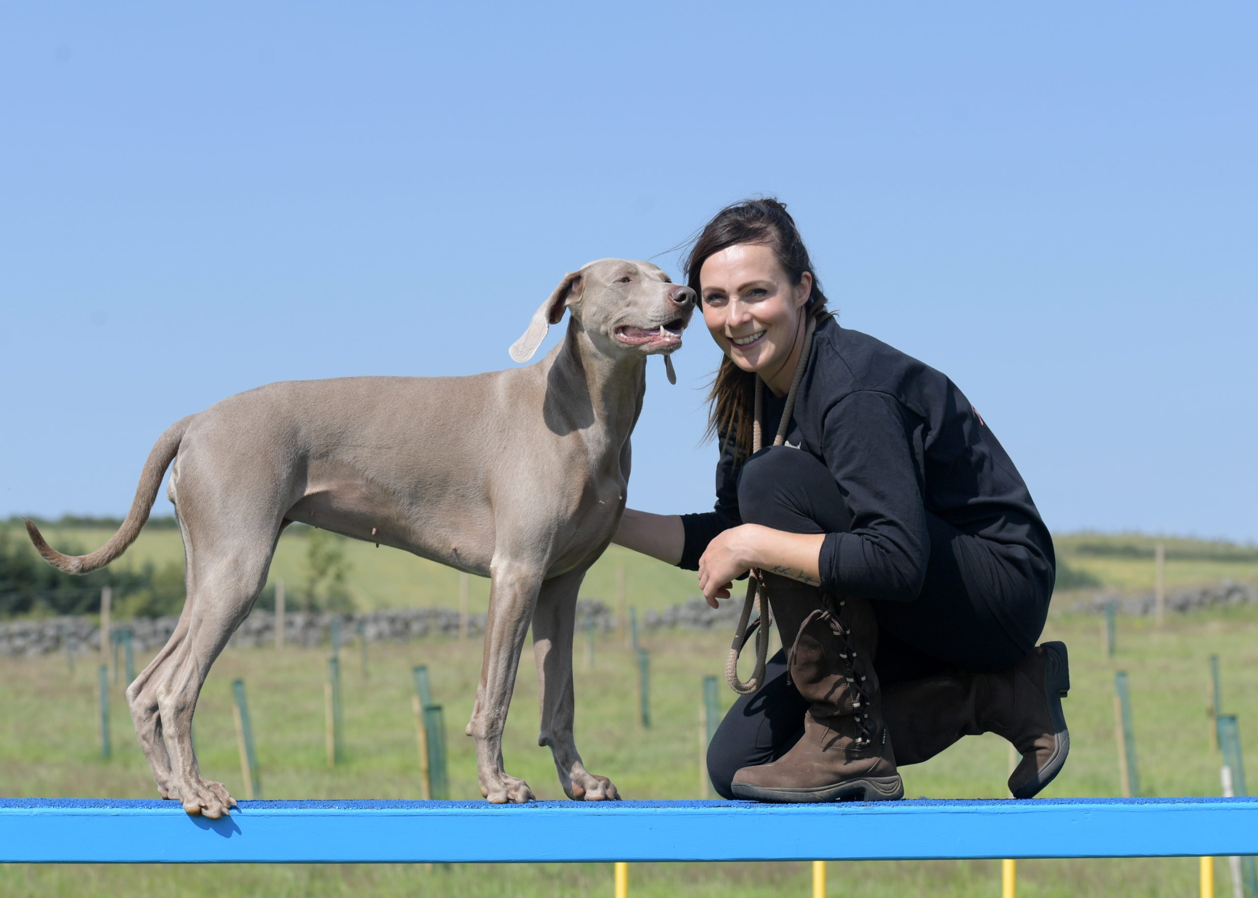 Joanne Beckley with Shiloh the dog. Picture by Kath Flannery