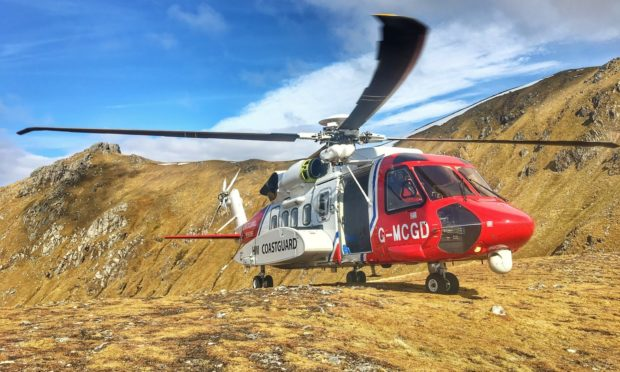 Stornoway search and rescue helicopter Rescue 948