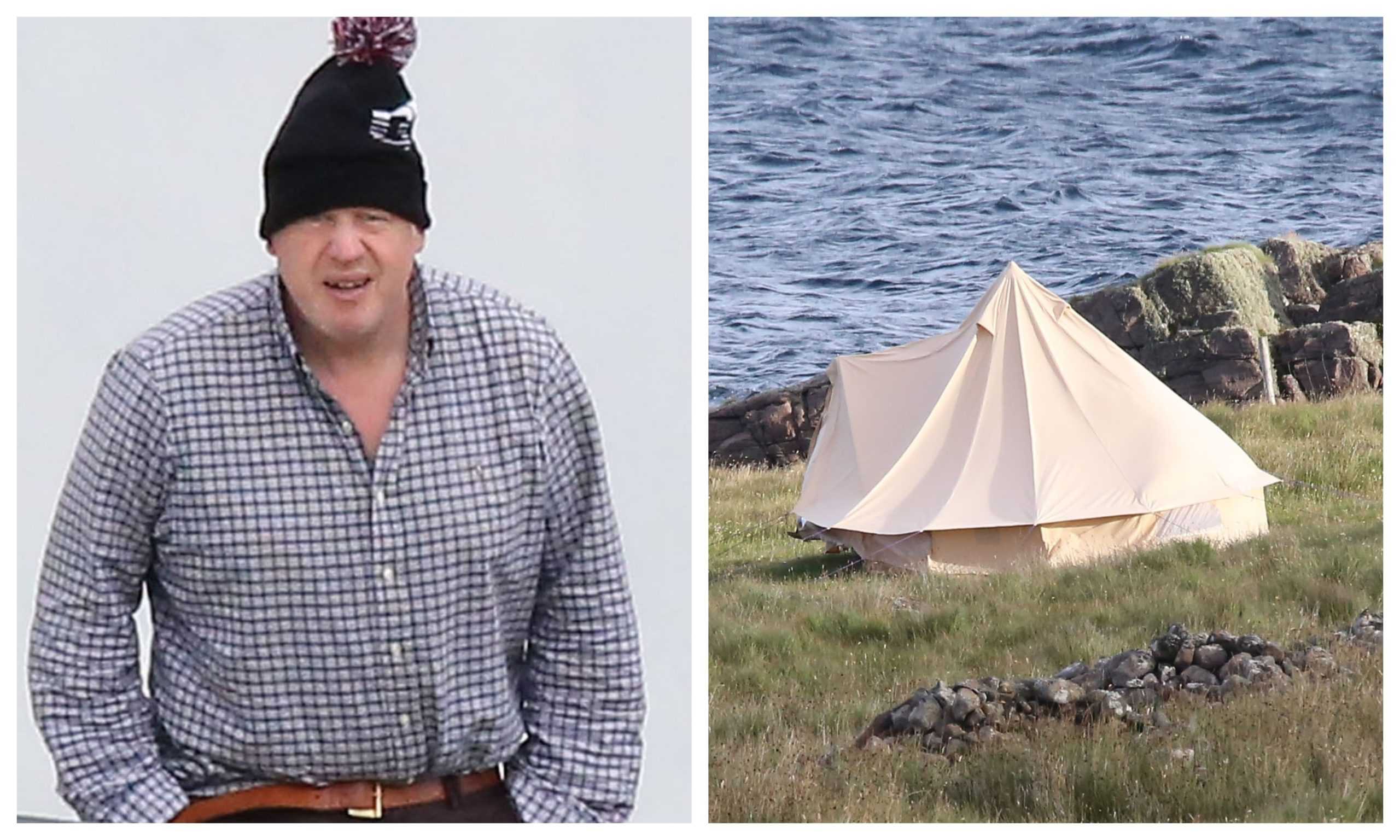 Boris Johnson has been spotted on holiday in the north of Scotland.