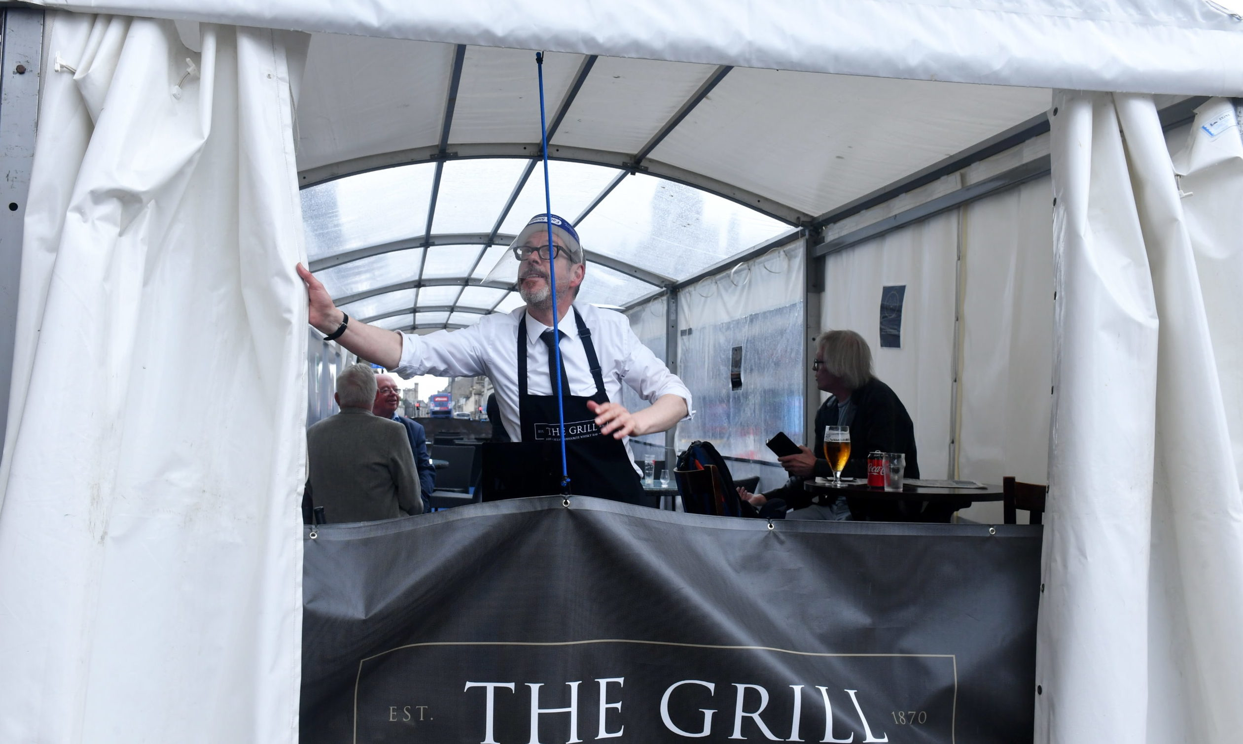 Kevin McKenzie at The Grill on Union Street. Picture by Chris Sumner