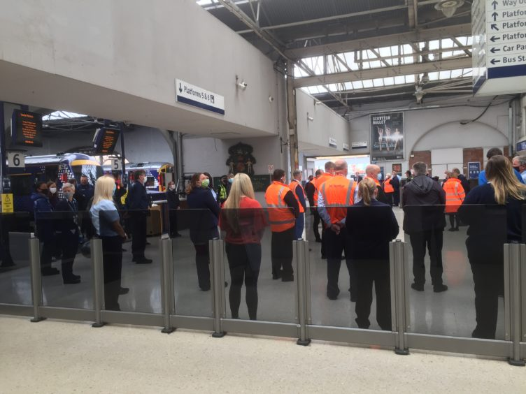 Inverness station observed a minute of silence.