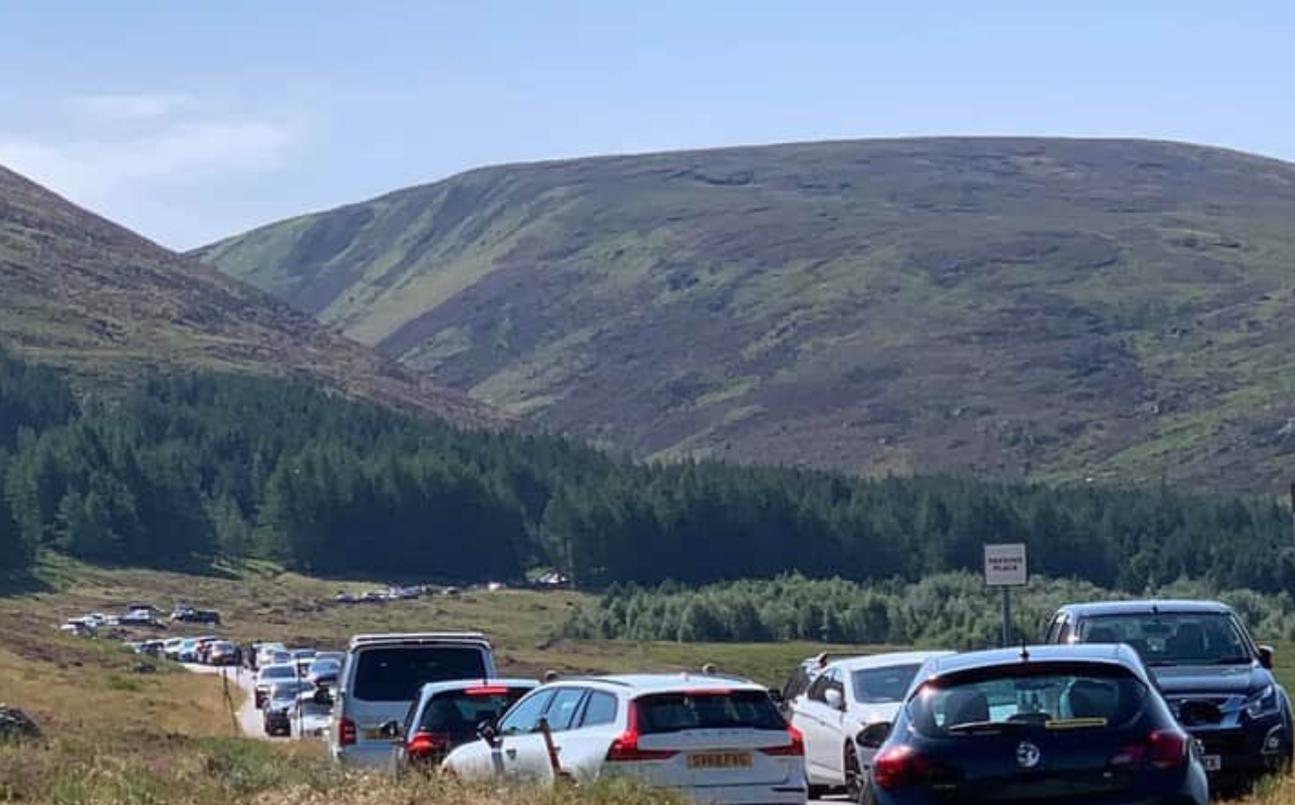 Loch Muick car park has been plagued by irresponsible parking in recent months.