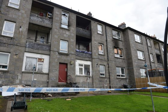 Pictures of the flat on Printfield Terrace following the fire.  Picture by Paul Glendell.