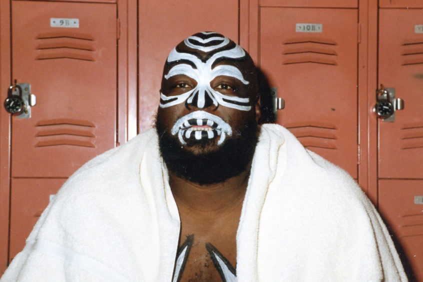 Mandatory Credit: Photo by MediaPunch/Shutterstock (10739753e) Wrestler, James Harris, better known by the ring name Kamala, Has Passed Away. Kamala The Ugandan Giant circa the late 1980's. Wrestler James Harris aka Kamala - 1980s