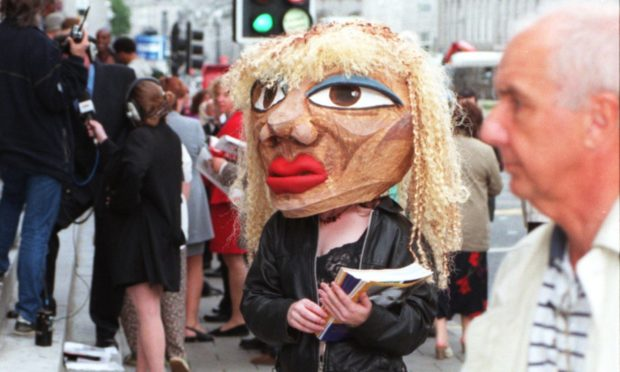 """""""Tina Turner"""" turns heads at the launch of the 1999 Aberdeen Alternative Festival"""
