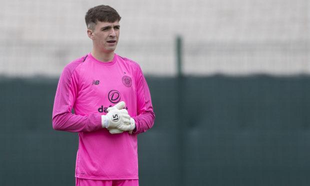 Ryan Mullen in action for Celtic's reserves.
