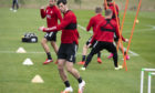 Scott McKenna during an Aberdeen training session.