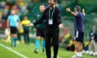 Aberdeen manager Derek McInnes in Lisbon.