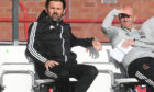 Cove Rangers manager Paul Hartley and his assistant Gordon Young.