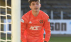 Ryan Mullen made his debut in goal against Dundee.