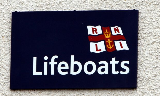 Lifeboats were involved in the search for the man after he fell overboard