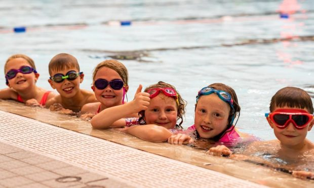 Young swimmers returning to lessons at Aberdeen Sports Village.
