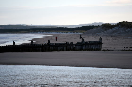 East Beach in Lossiemouth. Picture by Gordon Lennox