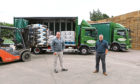 Grampian Growers managing director Mark Clark, left, and Jon Halliwell from William Fraser Potato Merchants.
