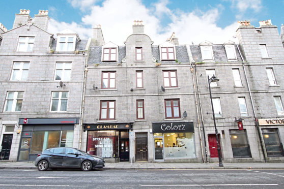 Flat A, 60 Victoria Road, Aberdeen, is on the market at offers over £44,000