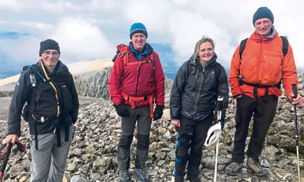Suzanne Williams was on Ben Cruachan when she lost her footing and tumbled down the gorge.