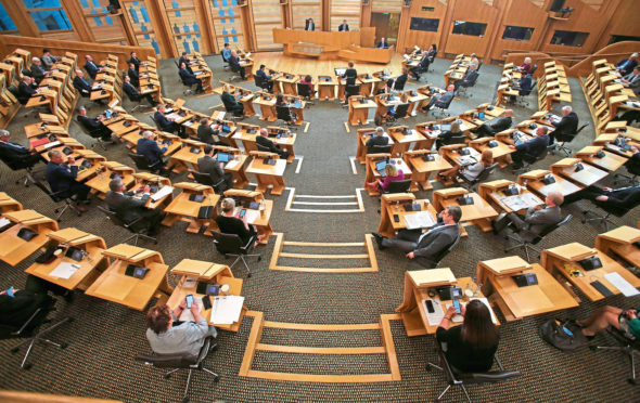 A special Covid-19 social distancing First Ministers Questions, at the Scottish Parliament.