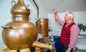 Badachro distillery.