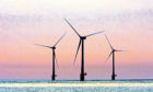 The first turbines at one of Britain's biggest offshore windfarms in Norfolk.