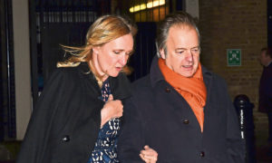 CLIQUE PEEK: Sasha Swire with husband and former Conservative MP Sir Hugo.