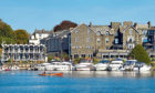 The impressive Macdonald Old England Hotel and Spa dominates the waterfront