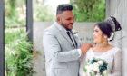 Dilip Fernando and wife Imasha