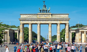 German Unity Day on Saturday will celebrate the Brandenburg Gate's changing role, from nationalist symbol to tourist snap.