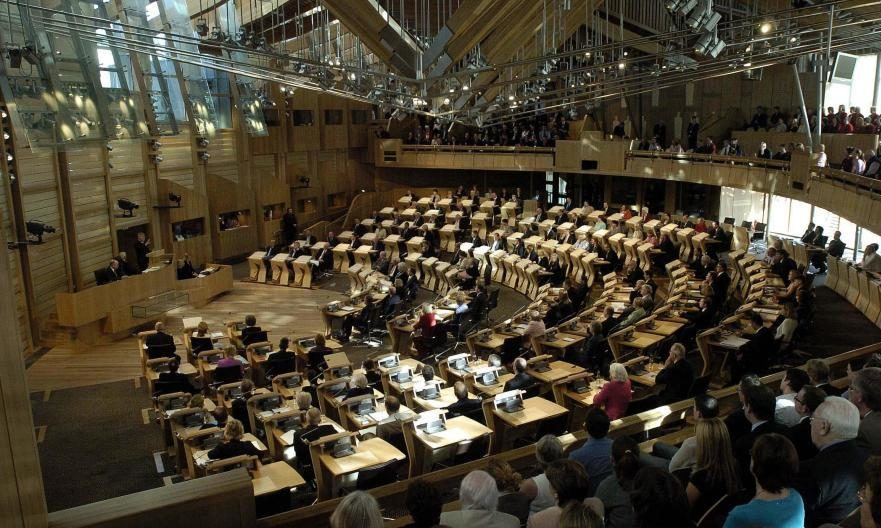 The Holyrood Chamber in the pre-Covid era.