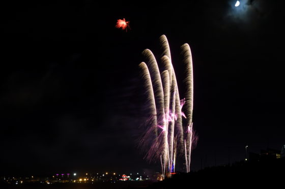 Aberdeen Fireworks 2019 display at Beach Boulevard.  Picture by KENNY ELRICK 05/11/2019