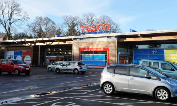The Tesco supermarket in Tain.