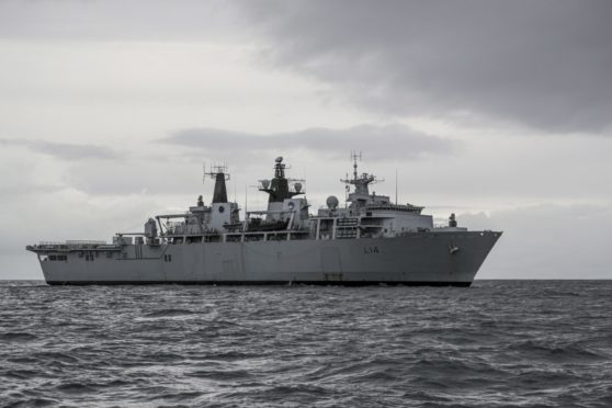 HMS Albion at Loch Ewe during a previous Joint Warrior exercise.