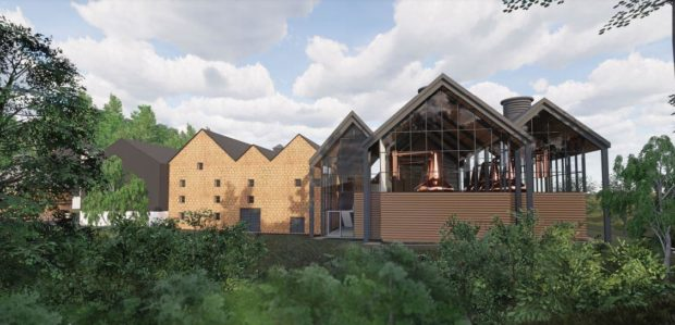 An artist's impression of the Aberlour Distillery expansion.