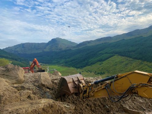 More than 5,000 tonnes of debris reached Old Military Road in the landslip