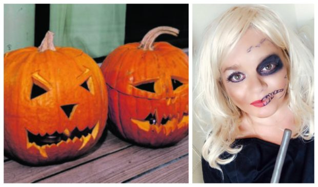 """Helen Will (right) has introduced a virtual """"reverse trick or treat"""" event."""