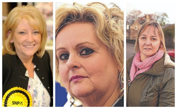 L-R: Councillors Pauline Munro, Maxine Smith, and Liz MacDonald have announced their departure with the SNP.