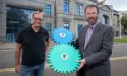 Matthias Rudloff (left), project manager at Huttinger Interactive Exhibitions, with Aberdeen Science Centre CEO Bryan Snelling.