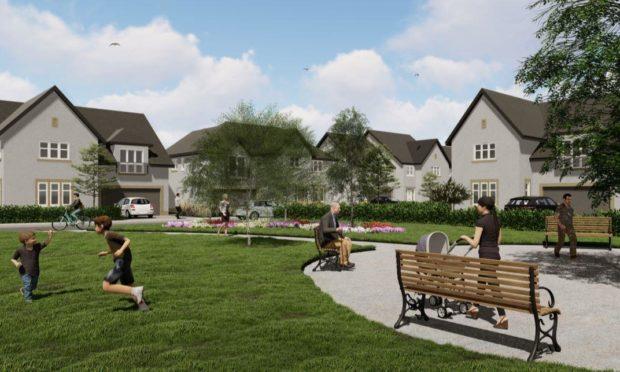Aberdeen councillors have been recommended to conditionally approve plans for 78 homes at Kirk Brae, Cults. An artist's impression, provided by Cala Homes.