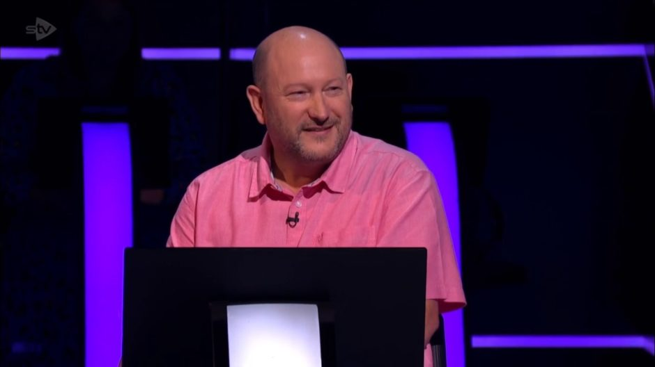 Donald Fear after winning £1 million on Who Wants To Be A Millionaire (Stellify Media/STV)