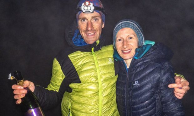 Ultra distance runner Donnie Campbell with his wife