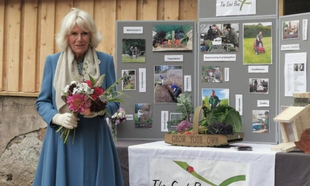 The Duchess of Rothesay Camilla has visited The Seed Box charity.