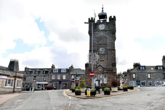 Dufftown clock tower in the centre of the village at the junction of Balvenie Street and Conval Street. Picture by Kami Thomson.