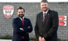Councillor John Wheeler with Lochside Academy head teacher, Neil Hendry. Picture by Darrell Benns.