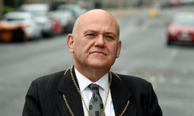 Lord Provost Barney Crockett will be involved in a Remembrance Service on November 8 2020.