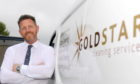 Scott Willox outside Goldstar Cleaning Services.