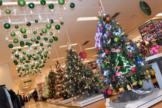 The Christmas shop that has been launched at John Lewis in Aberdeen. Picture by Paul Glendell