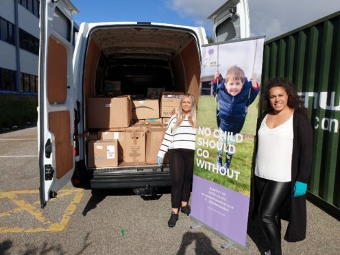 Sutherland families are benefitting from a collaboration between Sutherland Community Partnership and AberNeccessities