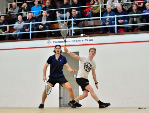 North squash player Fergus Richards, right, is delighted the Springfield Scottish Squash Open is heading to the Highlands next year.